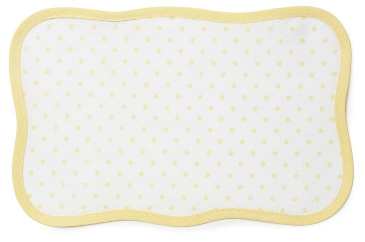 Yellow Confettis Cocktail Napkin
