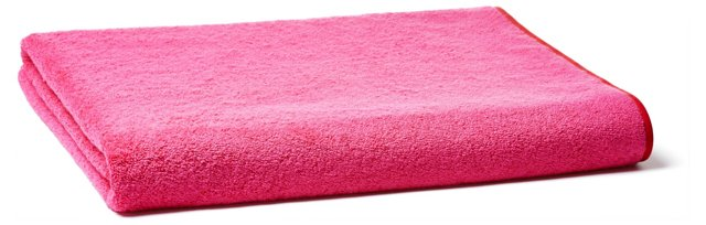 Bath Sheet, Fuschia/Red