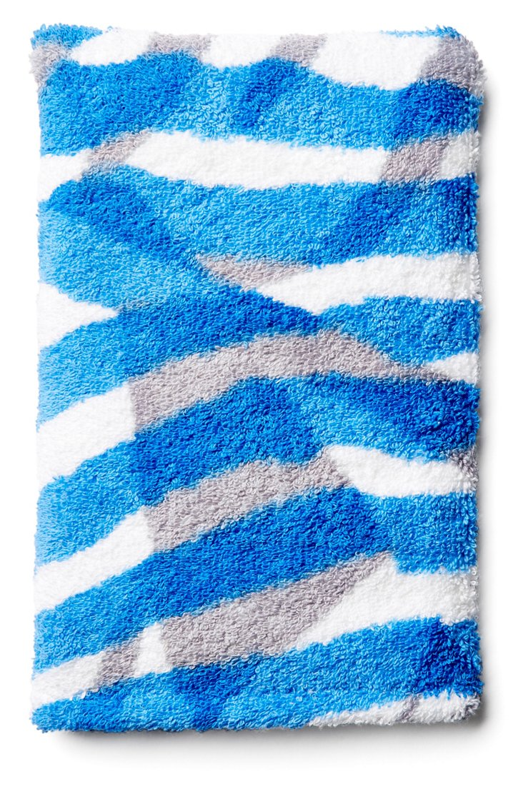 Courant Marin Bath Mitt, Blue