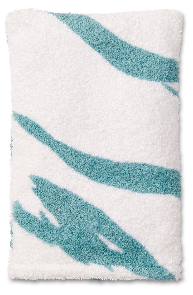 Tigre Bath Mitt, Turquoise