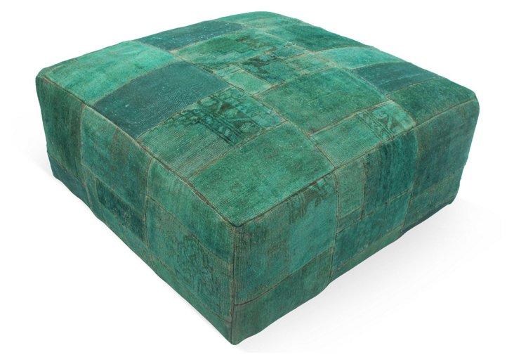 Patchwork Ottoman, Green