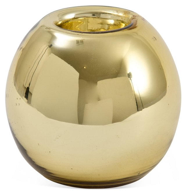 Mid-C. Gold Mercury Vase