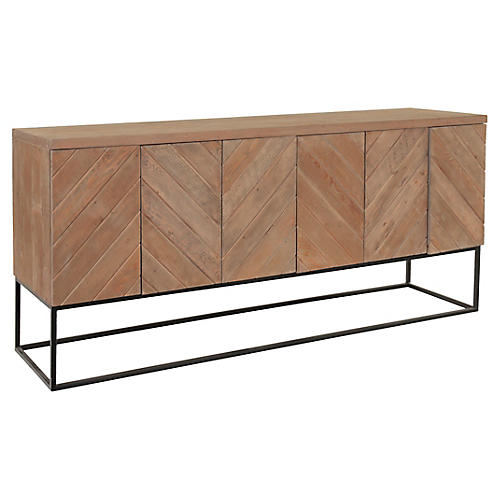 Crawford Chevron Sideboard, Natural