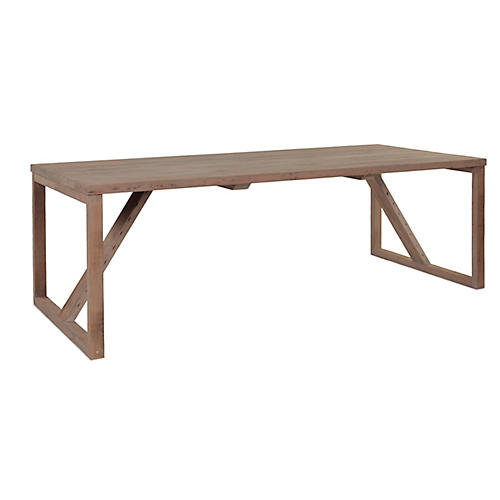 "Toomey 92"" Dining Table, Natural"