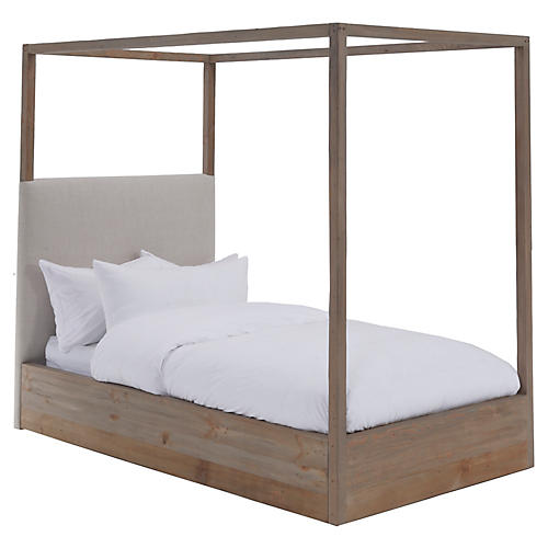 Canopy Kids' Bed, Ivory Linen