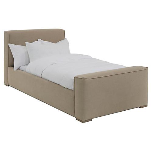 Layden Kids' Bed, Natural Linen