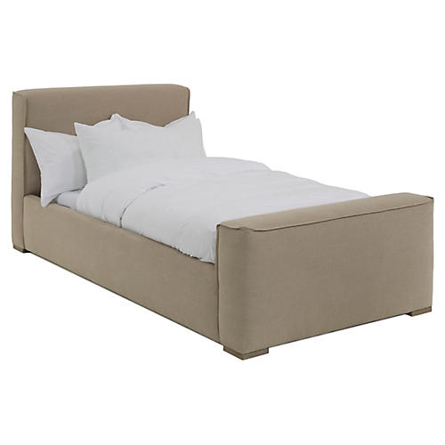 Layden Kids' Bed, Natural Linen