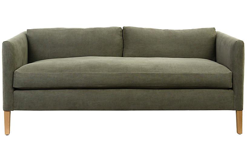 Albee Sofa, Moss Linen