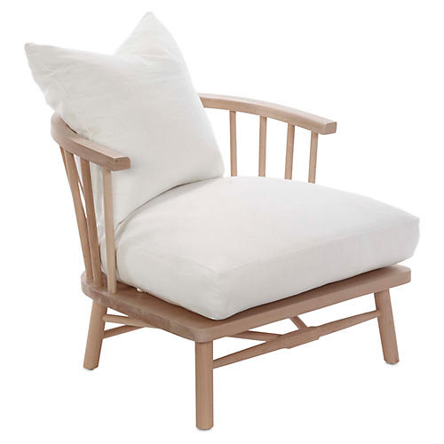 Bauer Accent Chair, Ivory Linen