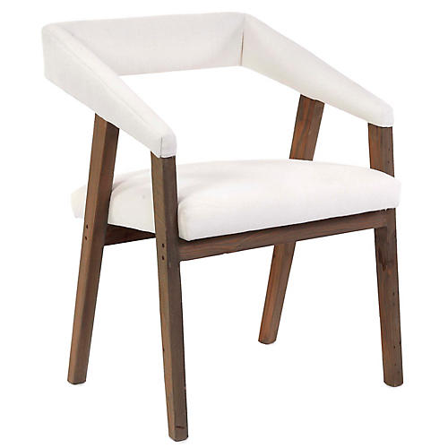 Gilliam Accent Chair, Ivory Linen