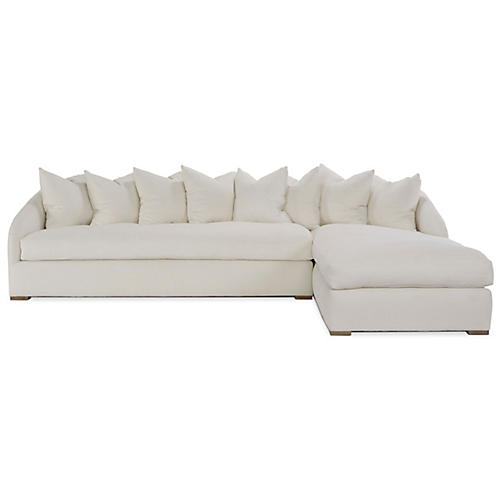 Reilly Sectional, Ivory Linen