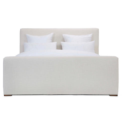 Nemus Panel Bed, Ivory Linen