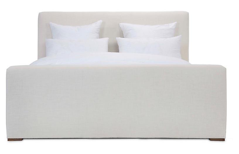 Nemus Panel Bed, Ivory Linen