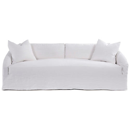 Reilly Slipcover Sofa, Ivory Linen