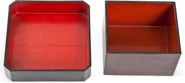 Asian Lacquered Boxes, Pair