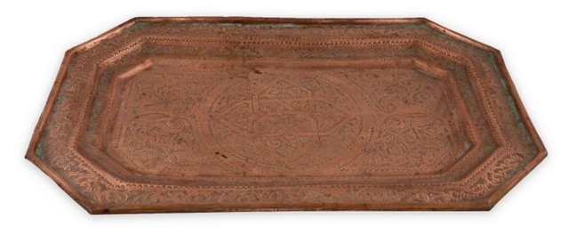 Middle Eastern Copper Tray