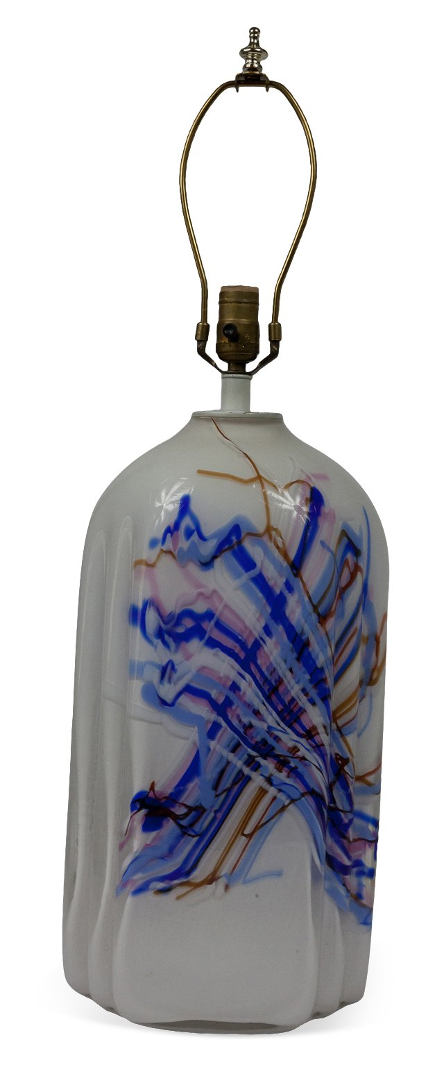 Italian Blown-Glass Lamp