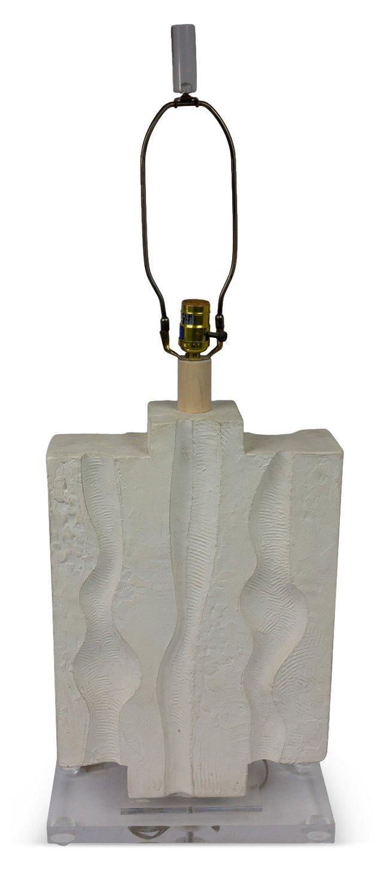 Plaster & Lucite Lamp