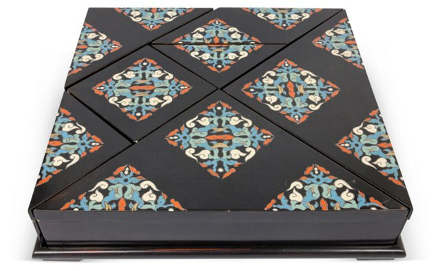 Asian Puzzle Boxes, Set of 7