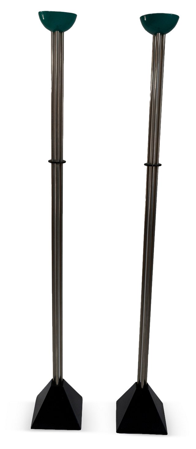 Ron Rezek Floor Lamps, Pair