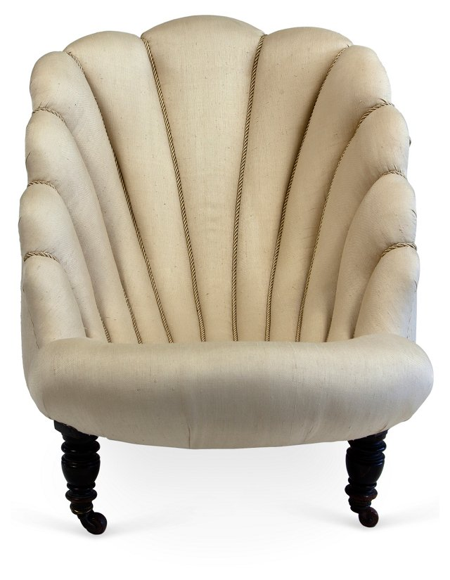 19th-C. Fitz & Floyd Estate Chair