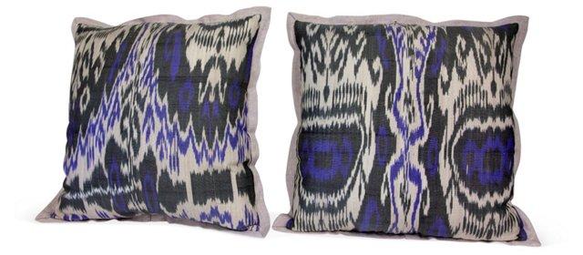 Ikat Pillows, Pair II