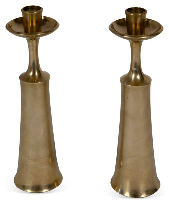 Quistgaard Candleholders, Pair