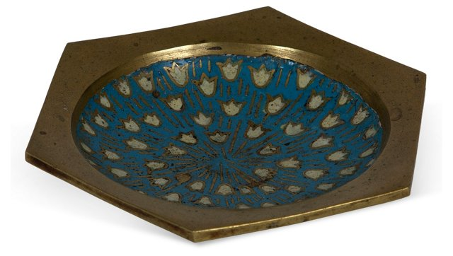 Bronze Asian Enamel Dish