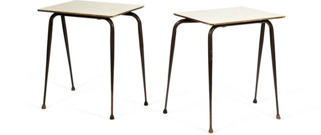 Midcentury Tables, Pair