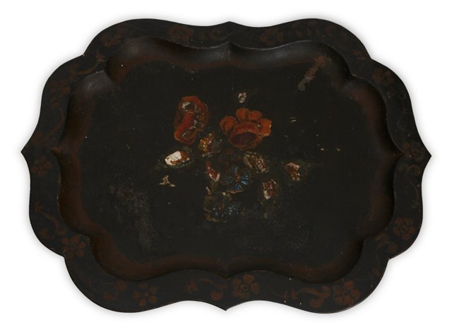 Tole & Mother-of-Pearl Tray