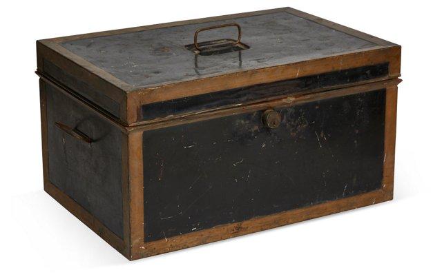 19th-C. Tin Document Box