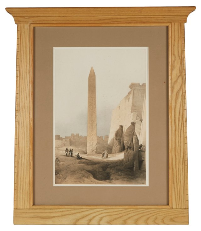 Framed Lithograph, Obelisk of Luxor