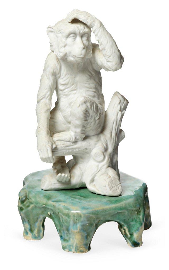 Monkey Figurine on Stand