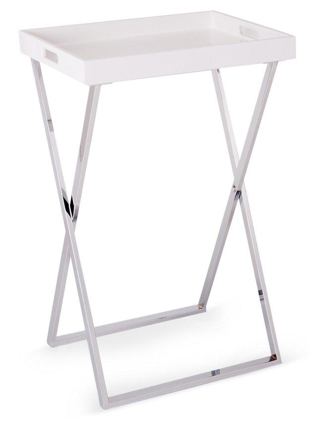 Ava Tray Table, White