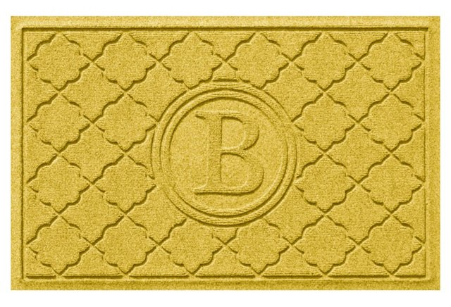 Bombay Monogram Mat, Yellow