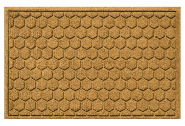 "1'11"" x 3' Honeycomb Mat, Gold"