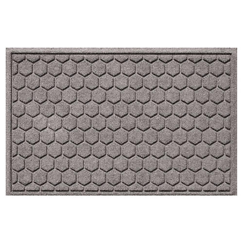 "1'11""x3' Honeycomb Doormat, Gray"