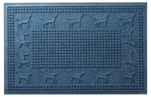 """1'11"""" x 3' Lab Squares Mat, Navy"""