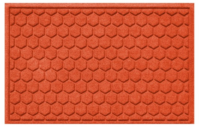 "1'11""x3' Honeycomb Mat, Orange"