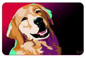 Golden Retriever New Wave Mat