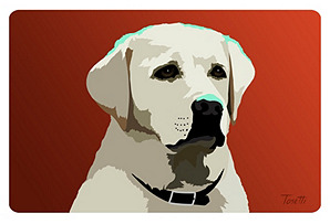 Yellow Lab New Wave Mat