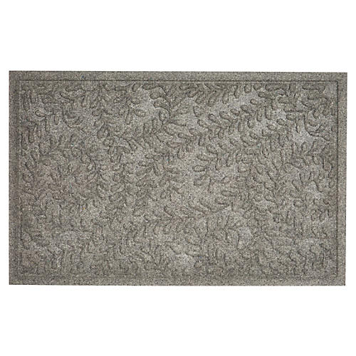 "1'11""x3' Boxwood Doormat, Gray"