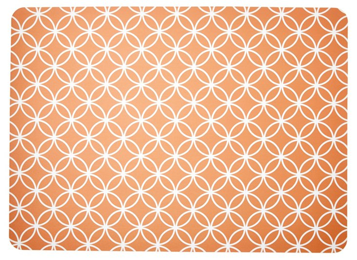 "1'11""x2'7""  Bloom Floor Mat, Orange"