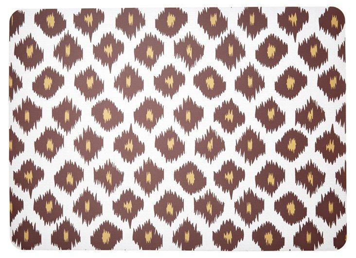 "1'11""x2'7"" Ikat Floor Mat, Chocolate"