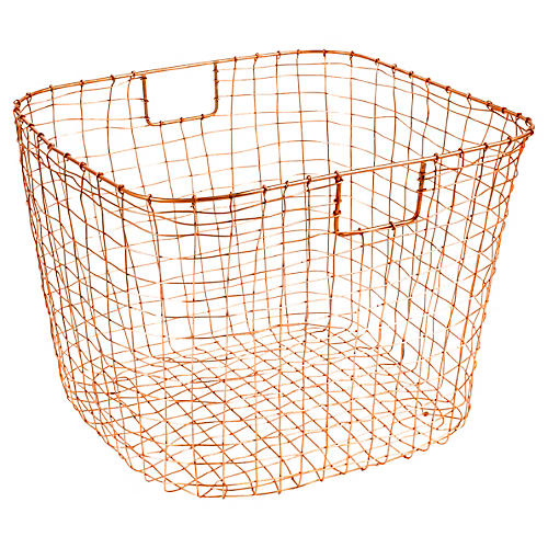 "19"" Bosworth Harvest Basket, Copper"