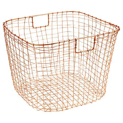 """19"""" Bosworth Harvest Basket, Copper"""
