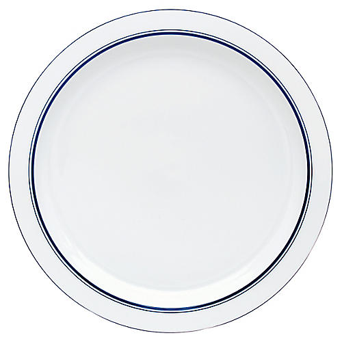Bistro Christianshavn Dinner Plate, White/Blue