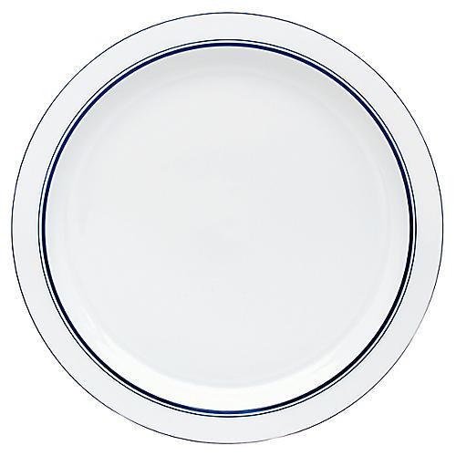 Bistro Christianshavn Dinner Plate, White/Blue