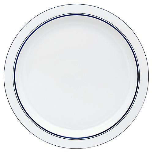 Bistro Christianshavn Serving Platter, White/Blue