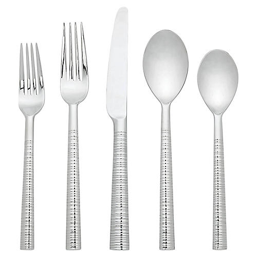 5-Pc Tronada Place Settings, Silver